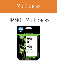 HP 901 | 2 Ink Cartridges | Black, Tri-Color